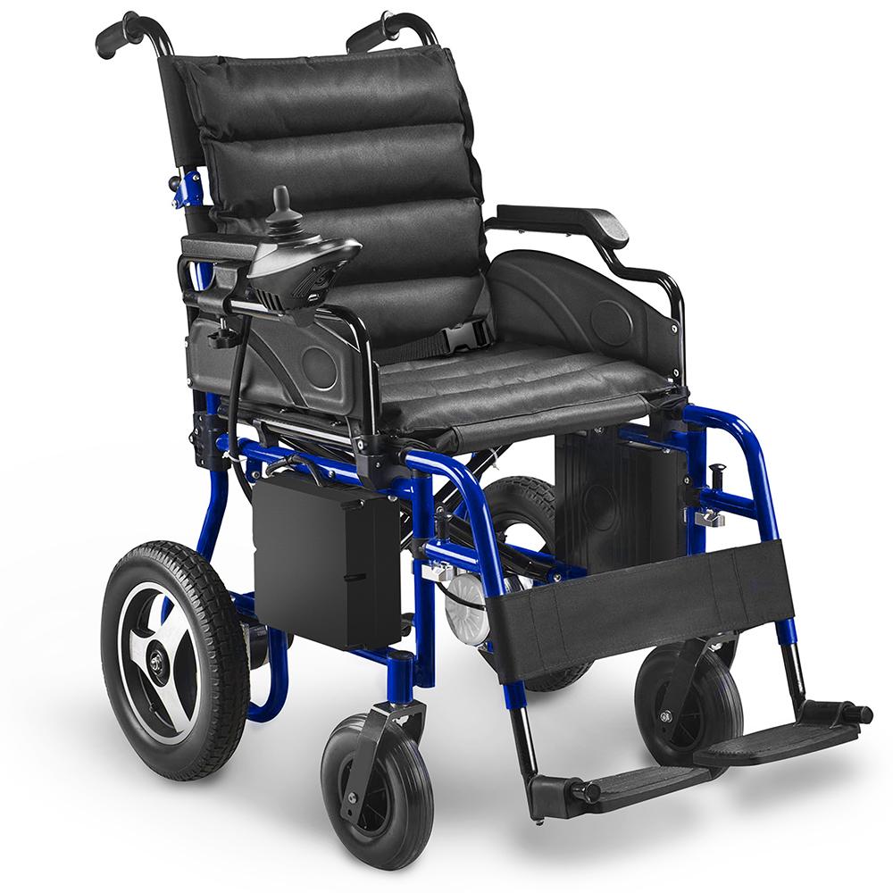 AIESI® Sedia a rotelle elettrica pieghevole per disabili ...